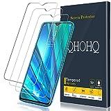 QHOHQ Schutzfolie für Realme 5 Pro, [3 Stück] [9H Festigkeit] HD Transparent Anti-Kratzen [Blasenfrei] Panzerglas