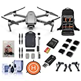 DJI Mavic 2 Pro Drone - Bundle with FS Landing Gear Legs, Drone Landing Pad, 128GB microSDXC Card, Mavic 2 Fly More Kit, Lowepro BP 200 Backpack, ARC White Strobe, Lens Filters 6 Pack and More