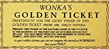 Sylty Willy Wonka Golden Ticket Gold Sign Wall Art Charlie Chocolate Factory Metal Sign 8x12 Inch