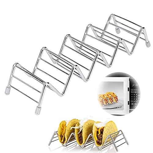 Edelstahl Taco Halter Ständer Langlebiger Tacoständer Edelstahl Taco Ständer Rostfrei Taco-Halterung Taco Halter Stand Set Für Halten Tacos, Sandwiches, Brot, Pfannkuchen, Ideal Für Kinder Und Partys
