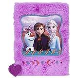Disney Frozen II Eiskönigin Anna ELSA Tagebuch flauschig Plüsch, Notizbuch DIN A5 80 Blätter Kindertagebuch Mädchen -