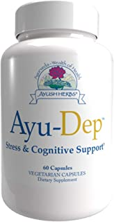 Ayush Herbs Ayu-Dep, Ayurvedic Saffron Extract Capsules for Stress and Cognitive Support, All-Natural Mood-Booster Supplem...