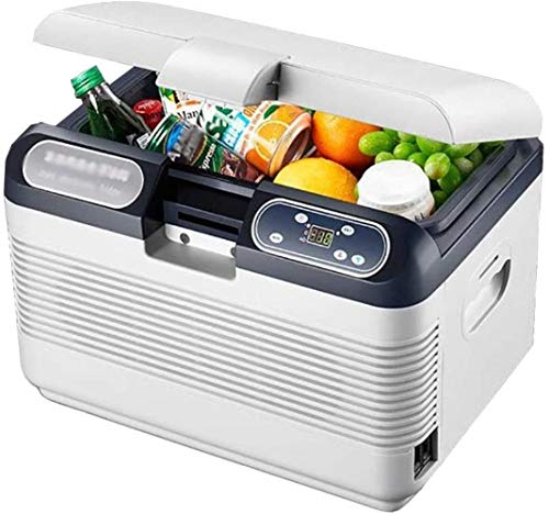 GAONAN Car refrigerator Portable Small 12V / 24V / 220V Dual-core Refrigeration Electric Cool Box And Warmer - Ideal For Camping, Travel, Picnics Mini Fridges Car cooler (Color : 12l)