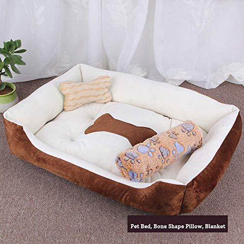 Cama para Perros Mascotas Perro Grande y sofá Cama Caliente cómodo del Animal doméstico del Gato calmante Cama del Perro Antideslizante a Prueba de Humedad
