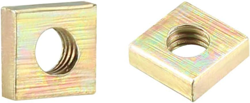 uxcell Department store Square San Antonio Mall Nuts M3x5.5mmx2mm Yellow Metric Plated Zinc Coars