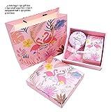 GIAOYAO Flamingo Bolsas, Flamingo Theme Party Caja de Caramelo Regalos de Boda romántica Flamingo Papel Mano Bolso for Celebración Cajas de regalo-5pcs Set