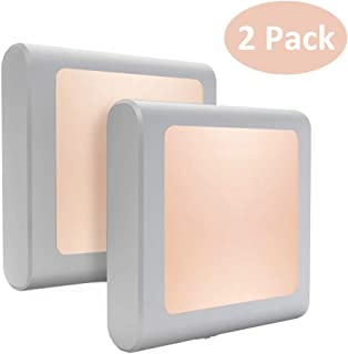 Night Light, AUSPICE Plug-in LED Night Light with Auto Dusk to Dawn Sensor, Adjustable Brightness Warm White Lights for Hallway, Bedroom, Kids Room, Kitchen, Stairway(2Pack)