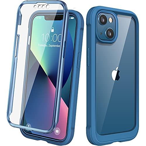 Diaclara Designed for iPhone 13 Case, Full Body Rugged Case with Built-in Touch Sensitive Anti-Scratch Screen Protector, Soft TPU Bumper...