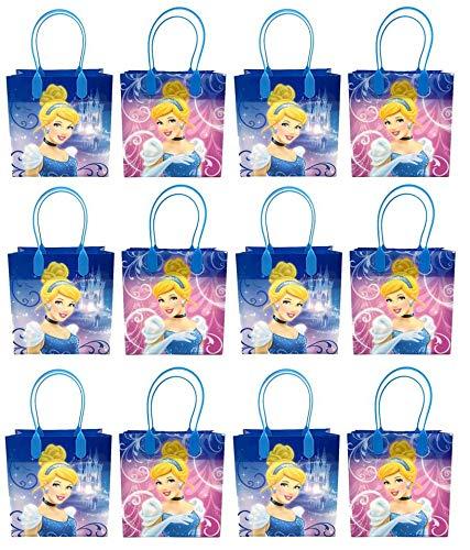 Cinderella - Premium Party Favor Reusable Goodie Bags/ Gift Bags - 12pc