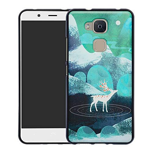 YCGG BQ Aquaris VS Plus/V Plus Hülle, Ultradünne Flexibles Soft TPU Silikon Muster Weich Handyhülle Case für BQ Aquaris VS Plus/Aquaris V Plus(Nicht für andere Modelle),Green Sika Deer