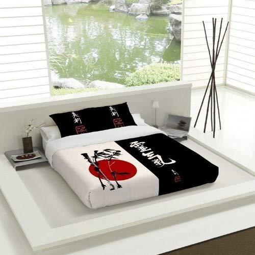 Tsuki Nagasaki Bettbezug, Baumwolle, Weiß, Einzelbett, 90 cm, 2 Stück