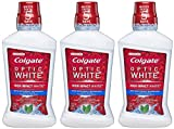 Colgate Optic White Multi-Care Whitening Rinse - High Impact White - Icy Fresh Mint - Net Wt. 16 FL OZ (473 mL) Per Bottle - Pack of 3 Bottles
