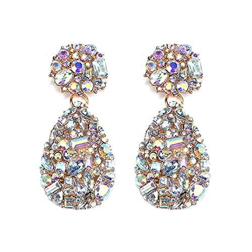 Pendientes joyería pendientes geométricos exagerados pendientes de diamantes de imitación europeos y americanos