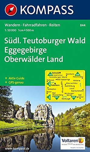 Südlicher Teutoburger Wald - Eggegebirge - Oberwälder Land 1 : 50 000: Wanderkarte mit Kurzführer und Radwegen. GPS-genau