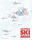 Colorado Ski Resorts Map 11x14 Print (White & Red)