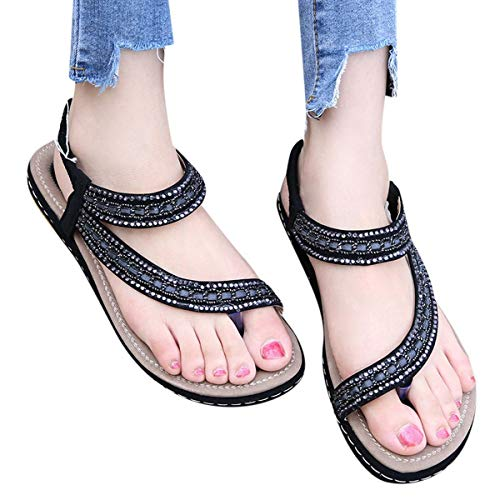 Fantastic Prices! Meiliwanju Summer Flat Gladiator Sandals for Women Comfortable Casual Beach Shoes ...