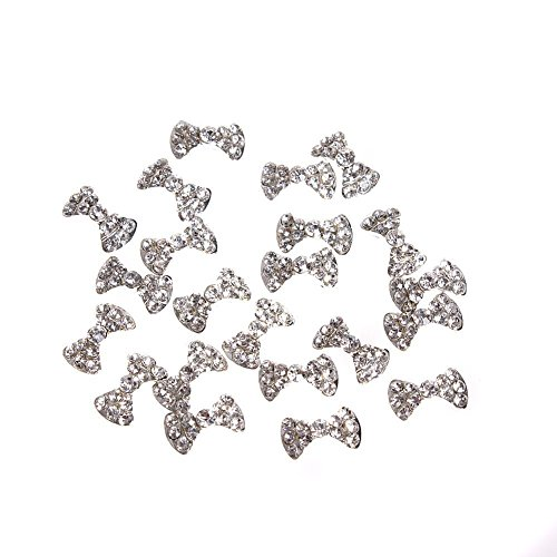 GBSTORE 20 Pcs Special Charming 3D Nail Art Designs Nail Art Bow Tie Alloy...