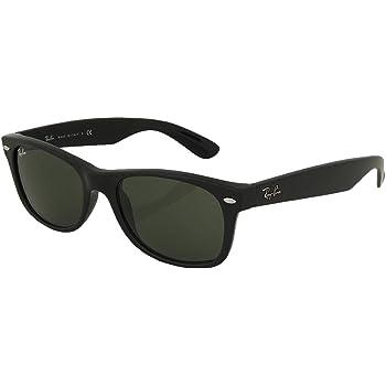 Ray_Ban New Wayfarer Sunglasses (Matte Black Frame 55mm), Matte Black Frame Solid Black G15 Lens, 55 mm