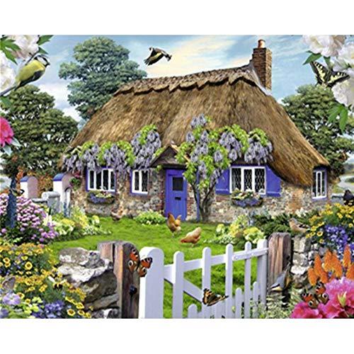 ZXDA Colore per Numero sulla Tela, Colore per Numero per Adulti, Pittura Digitale Senza Cornice, Regali, Decorazione del Soggiorno per la casa A11 45x60 cm
