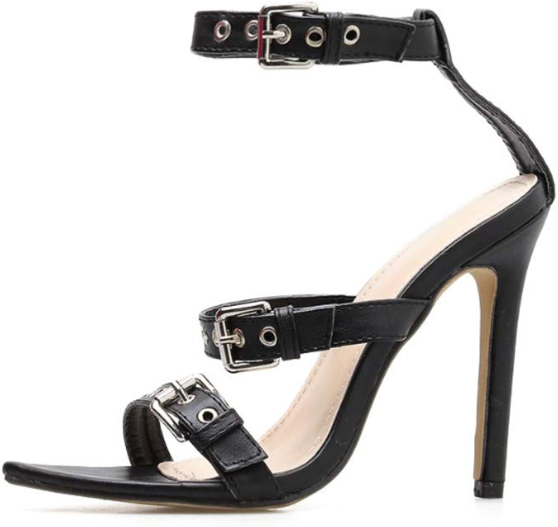 Sandaler för kvinnor - - - Sexy Point Belt Buckle Joker  mycket populär