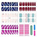 3D Adesivi per Unghie Nail Art, Copertura Completa 3D Nail Stickers Adesivi, Autoadesivi Unghie per Decorazioni Unghie Fai da Te