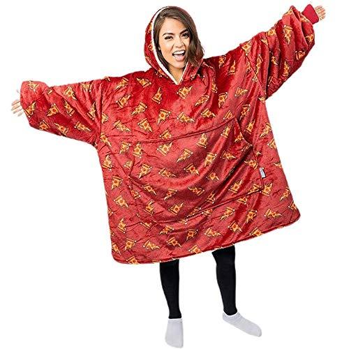Interessantes Essen Decken Pizza Druck Flanell Decken Stilvolle Bewegliche Decken Mit Ärmeln Und Taschen Bequemen Warmes TV Decken Für Erwachsene Männer Und Frauen