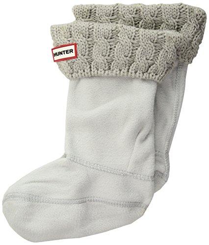 Originales calcetines altos para botas para niños de Hunter 6Stch cable crudo, todo el año, Niñas, color Grau (Greige), tamaño M