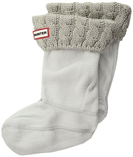 HUNTER Kids Original Tall Boot Socks 6Stch Cable greige, Größe:L