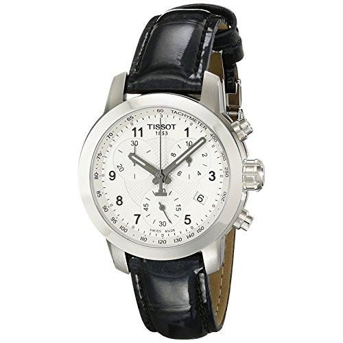 Tissot Damen Chronograph Quarz Uhr mit Leder Armband T055.217.16.032.02