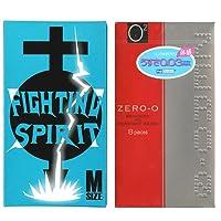 リンクルゼロゼロ 1500 12個入 + FIGHTING SPIRIT (ファイティングスピリット) コンドーム Mサイズ 12個入