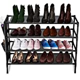 Sasoiky 4-Tier Shoe Rack, Stackable Shoes...