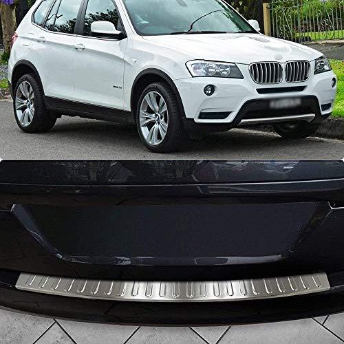 Protector de parachoques trasero de acero inoxidable, cubierta de placa de umbral de protección contra arañazos de maletero de coche, accesorios de estilo, apto para 2010-2017 BMW X3 (F25) FACELIFT