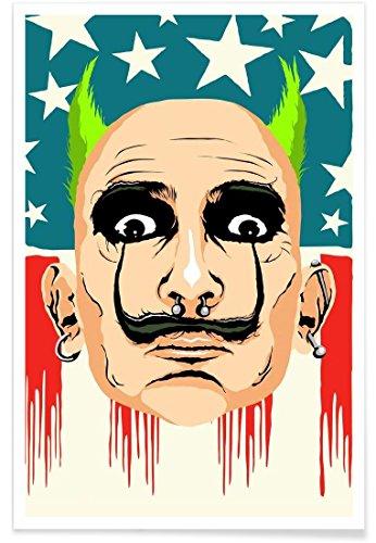 Juniqe® Affiche 40x60cm Pop Art - Design Smack My Dali Up (Format : Portrait) - Poster, Tirages d'art & Tableaux par des Artistes indépendants créé par Butcher Billy