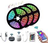 WiFi LED Strip Light RGB Impermeable SMD 5050 DC12V 5M 10M 15MCadena Diodo Cinta flexible WiFi Contoller + Adaptador-RGB_15M (3X5M)