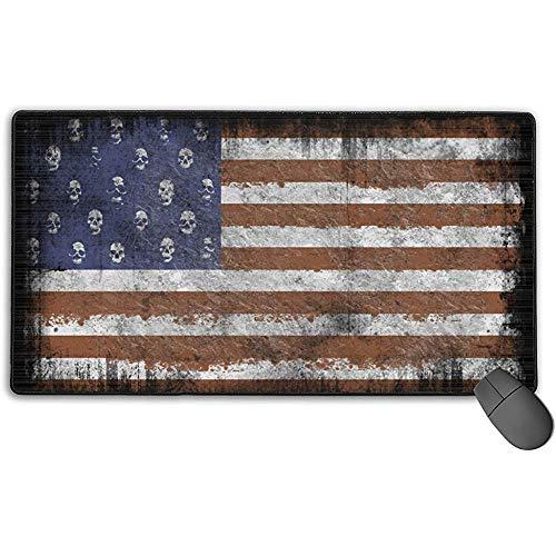 Große Mausunterlage, amerikanische Flagge US-Design Erweiterte Gaming-Mausunterlage Matte Schreibtischunterlage Rutschfestes Gummi-Mousepad 40x75 cm