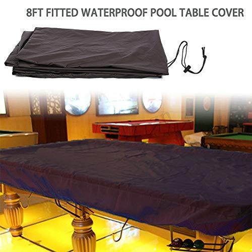 Rokf Billard-Tischbezug für Billardtisch, Englisch, wasserdicht, für draußen, Oxford mit Kordel, Kaffee, 1pcs