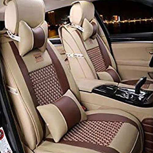 Preisvergleich Produktbild Seat Cover PU-Leder Auto Sitzbezug Kissen,  Für 5 Sitze Fahrzeug Geeignet, Brown