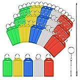 50pcs identificador llaves de multicolor de llavero plástico de etiquetas de etiquetado en blanco con dos herramientas