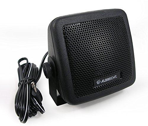 Albrecht CB 150 Mono Portable Speaker 3W Schwarz - Tragbare Lautsprecher (1.0 Kanäle, 3 W, 350-5000 Hz, 8 Ohm, Verkabelt & Kabellos, 2 m)