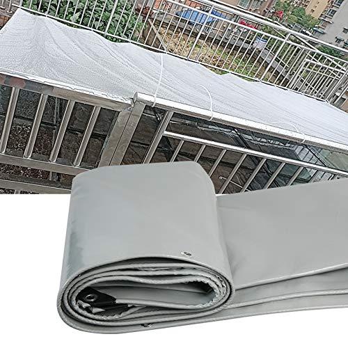 MAHFEI Lona Alquitranada, 0,48 Mm De Espesor PVC Toldo Lona Impermeable con Ojales Dosel De La Planta Refuerza Las Esquinas Tienda De Camping Terraza para Remolque Al Aire Libre