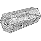 Skyflame Stainless Steel Round Tumble Rotisserie Grill Basket for Partitioned Food Grilling - Fits for 5/16 Inch Square, 3/8 Inch Square, 3/8 Inch Hexagon, 1/2 Inch Hexagon Spit Rods
