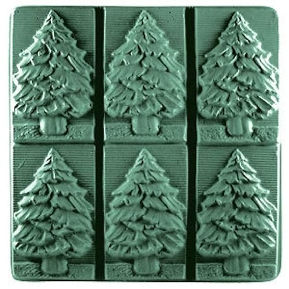 Fir Tree Milky Way Soap Mold - Melt and Pour - Cold Process - Clear PVC - Not Silicone - MW 96