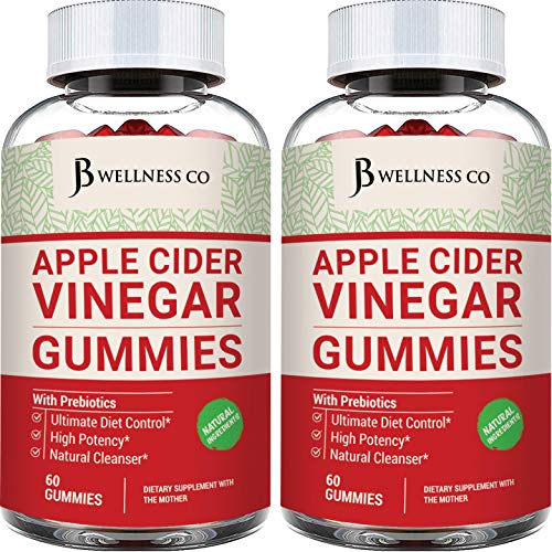 (2-PACK | 120 Gummies) Premium Apple Cider Vinegar Gummies - Raw, Natural, Unfiltered ACV With The Mother - Tasty Alternative to ACV Capsules, Tablets - Detox, Cleanse, Support, Weight Loss & Immunity