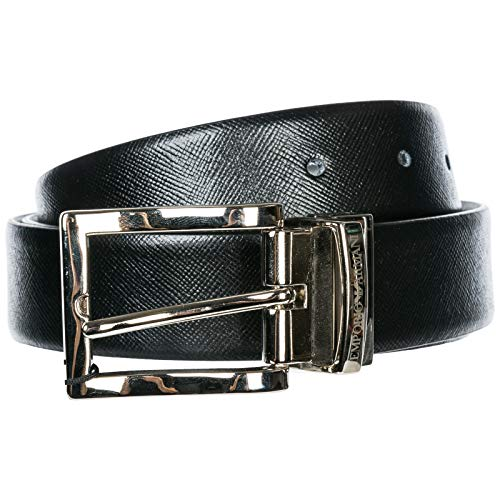 Emporio Armani cinturón hombre black - grey