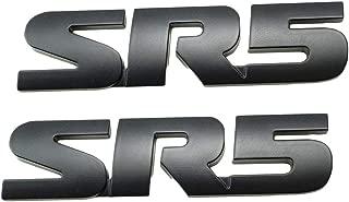 WindCar SR5 Emblem V6 SR5 Trunk Back Decal Metal Sticker Badge for Toyota Tacoma Tundra (Black - 2pcs)