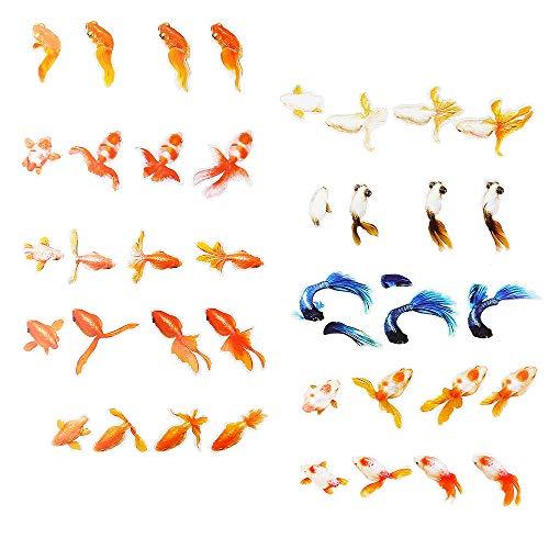 Daimay 10 Blatt 3D Goldfisch Aufkleber Harz DIY Sticker Kreative 3D Resin Film Verschönerungen Epoxidharz Füllstoff Aufkleber Dekoration für Handwerk