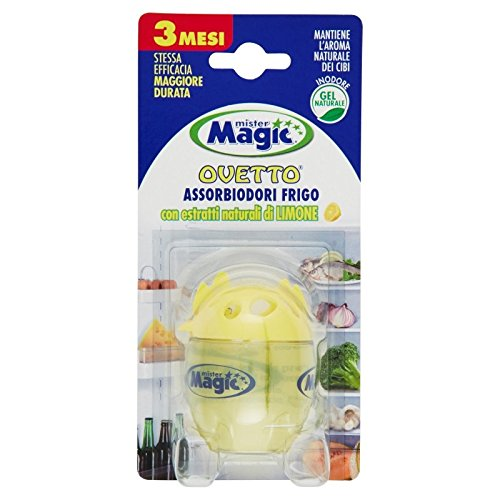 Mister Magic Ovetto Assorbiodori Frigo con Estratti Naturali Di Limone 40 g