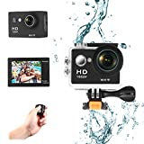 PowerLead Action Kamera W9 Wifi 12mp 170 Grad 1080p 2 inc LCD Digital 30M Wasserdicht WiFi...