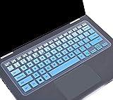 Keyboard Cover for 13.3' Dell Inspiron 13 5000 7000 Series i5368 i5378 i5379 7373 7375 7368 i7368 i7378, 15.6' Dell Inspiron 15 i5568 i5578 5579 7570 7573 7569 7579 Protective Skin, Gradual Blue