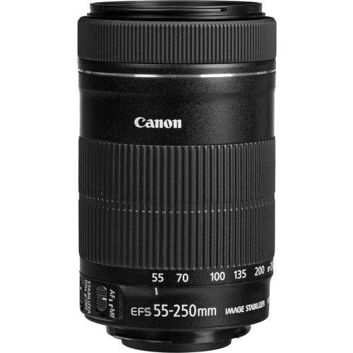 Obiettivo Canon EF-S 55-250 mm F4-5.6 IS STM per fotocamere reflex Canon, confezione bianca